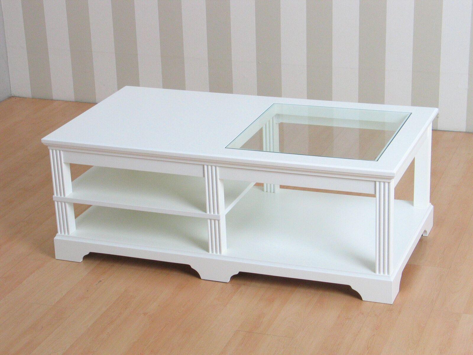 Couchtisch charlot 70x130 cm wohnzimmer glas tisch for Beistelltisch x beine