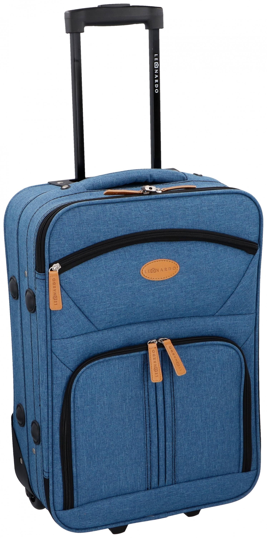 38l leonardo koffer reisekoffer handgep ck trolley koffer. Black Bedroom Furniture Sets. Home Design Ideas