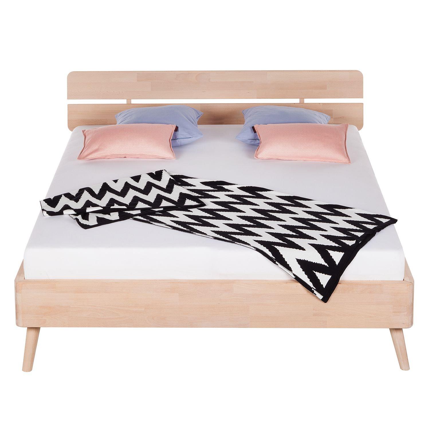 bett 160x200 cm massivholz buche ehebett doppelbett holzbett schlafzimmer m bel m bel wohnen. Black Bedroom Furniture Sets. Home Design Ideas