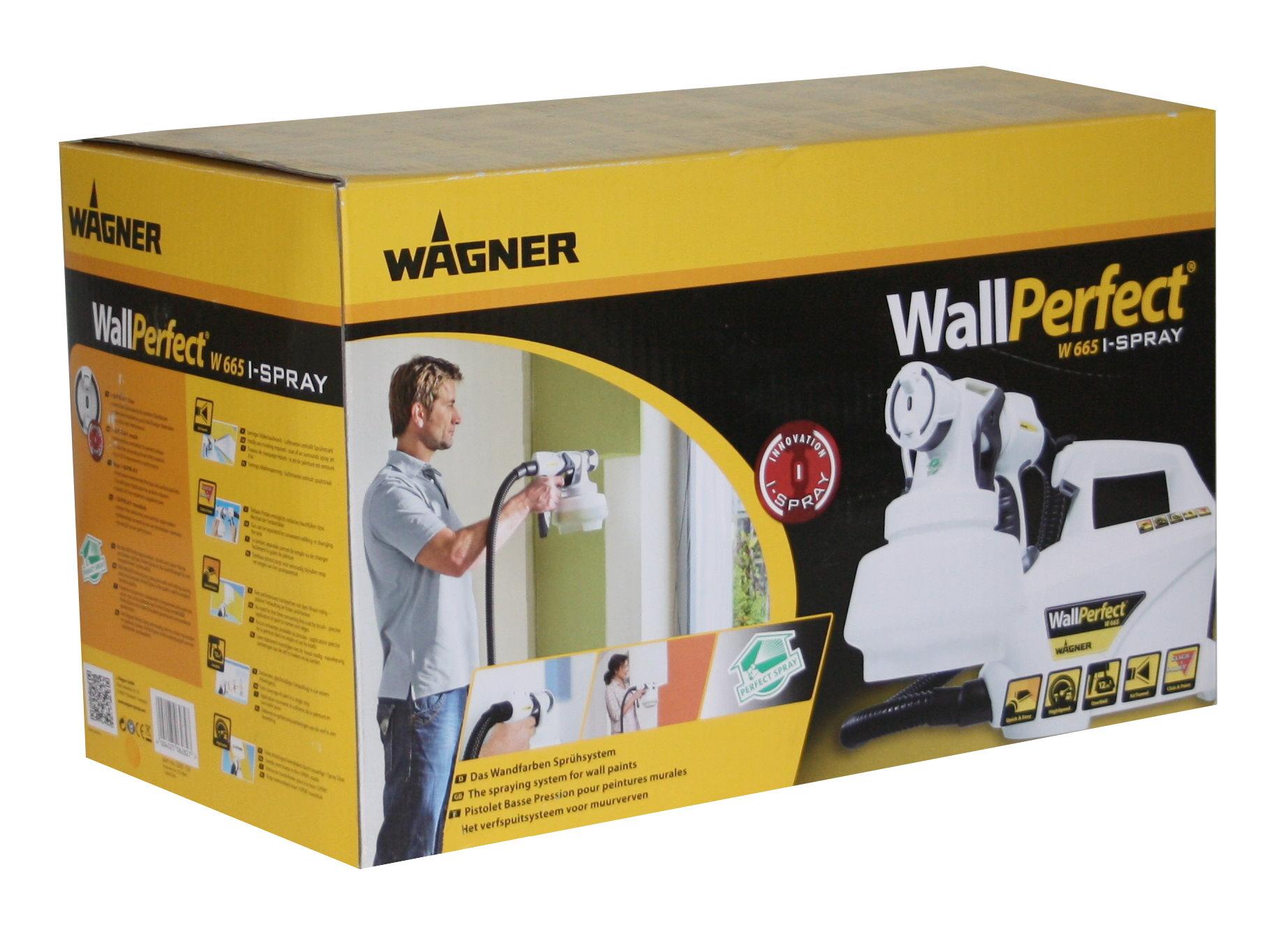 wagner wandfarbe farbspr hsystem w665 farbspr hger t spr haufsatz 1800ml ebay. Black Bedroom Furniture Sets. Home Design Ideas