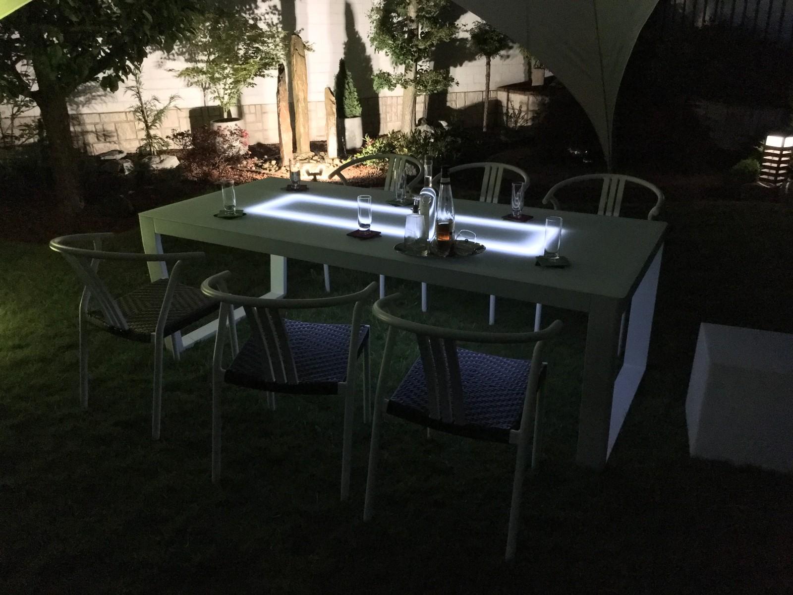 leco alu solar glas tisch exklusivline 220cm gartentisch. Black Bedroom Furniture Sets. Home Design Ideas