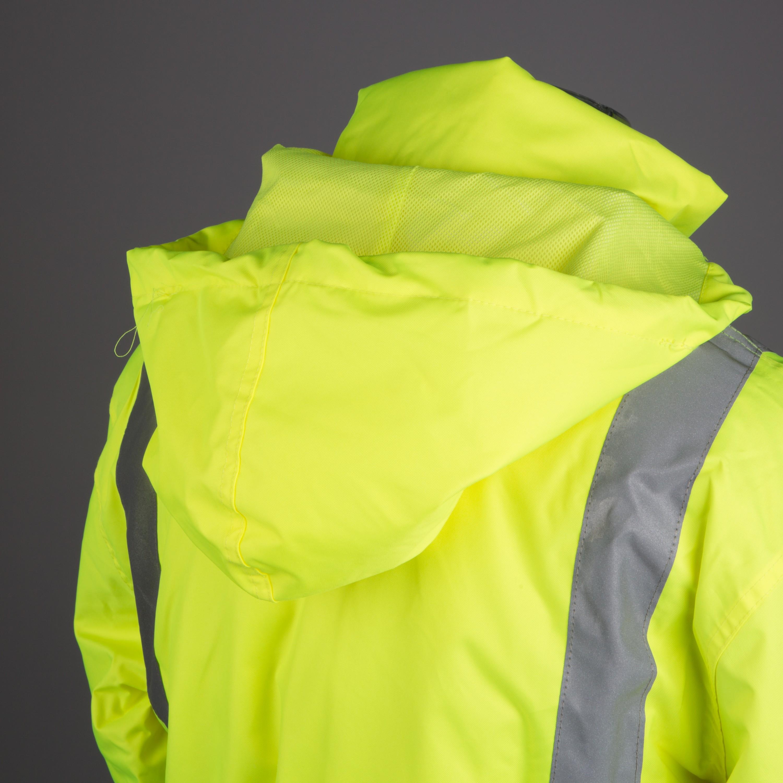 Winterjacke neon gelb