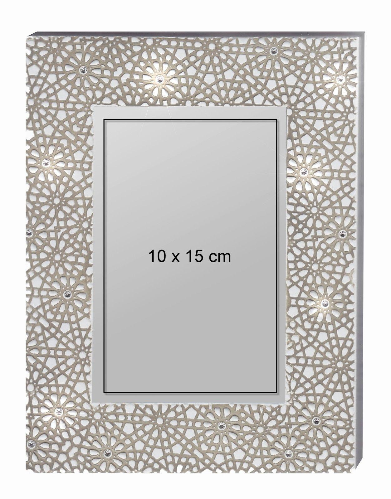 Blumen Bilderrahmen metall bilderrahmen 10x15cm mit strass modern blumen rahmen motiv