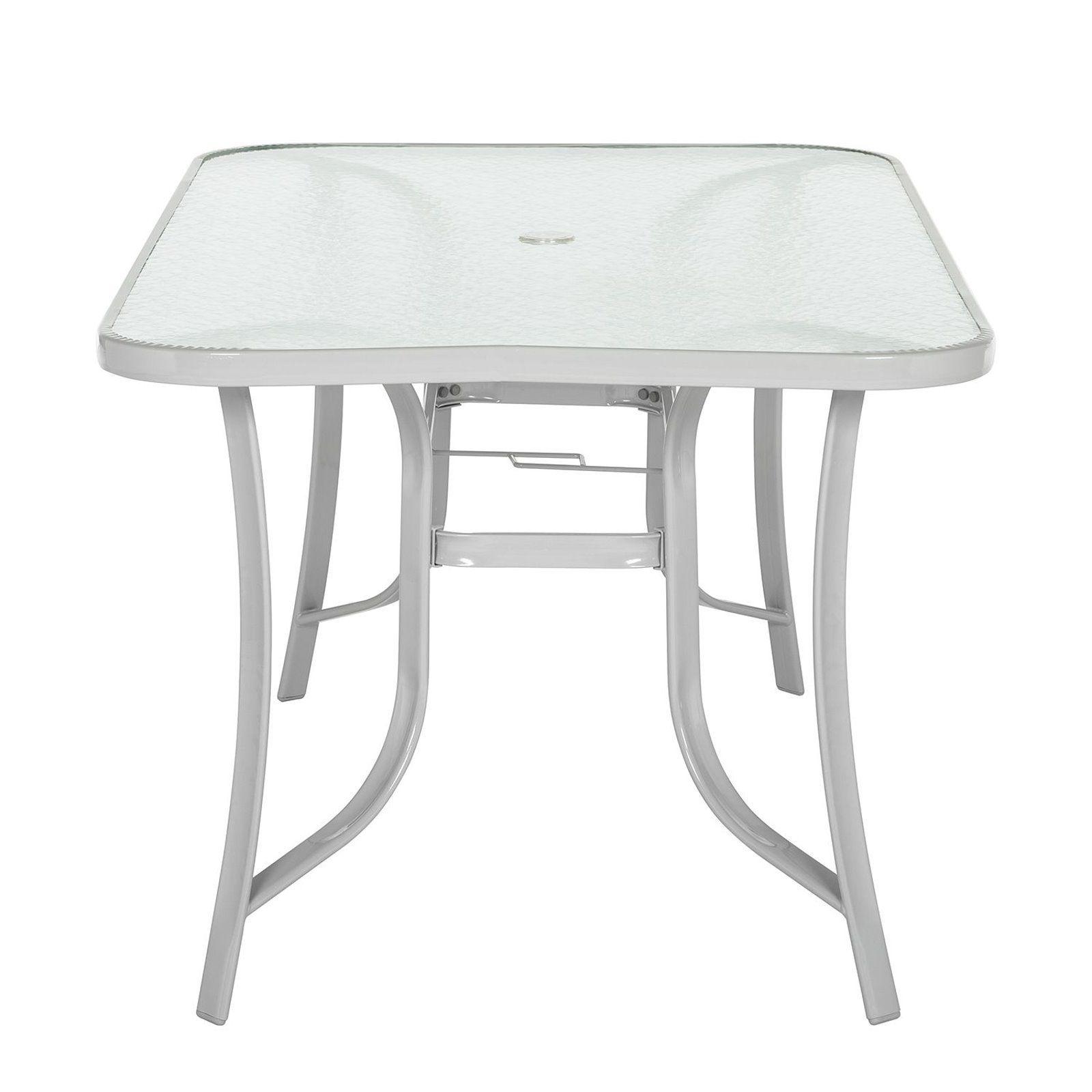 garten glastisch esstisch terrassentisch 150cm metall glas. Black Bedroom Furniture Sets. Home Design Ideas