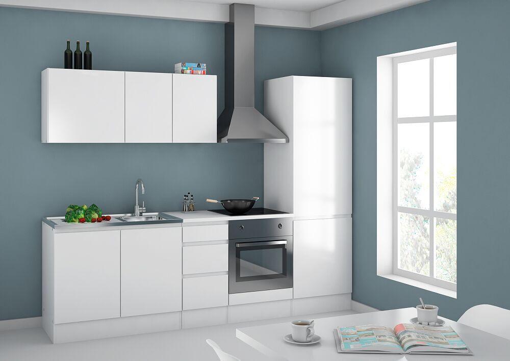 k chen h ngeschrank wei k chenschrank k che m bel ober schrank badschrank bad ebay. Black Bedroom Furniture Sets. Home Design Ideas