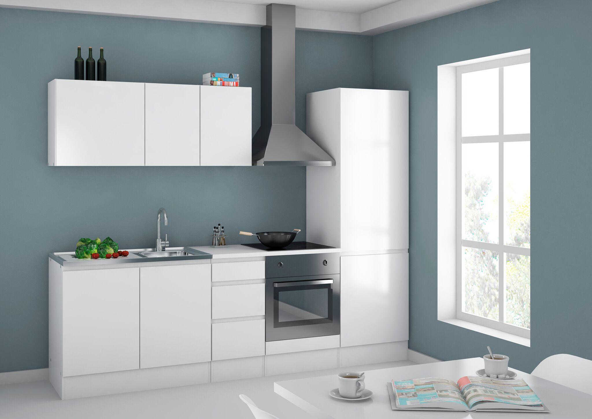 Küchen Hochschrank weiß Küchenschrank Küche Möbel Badezimmer Bad ...