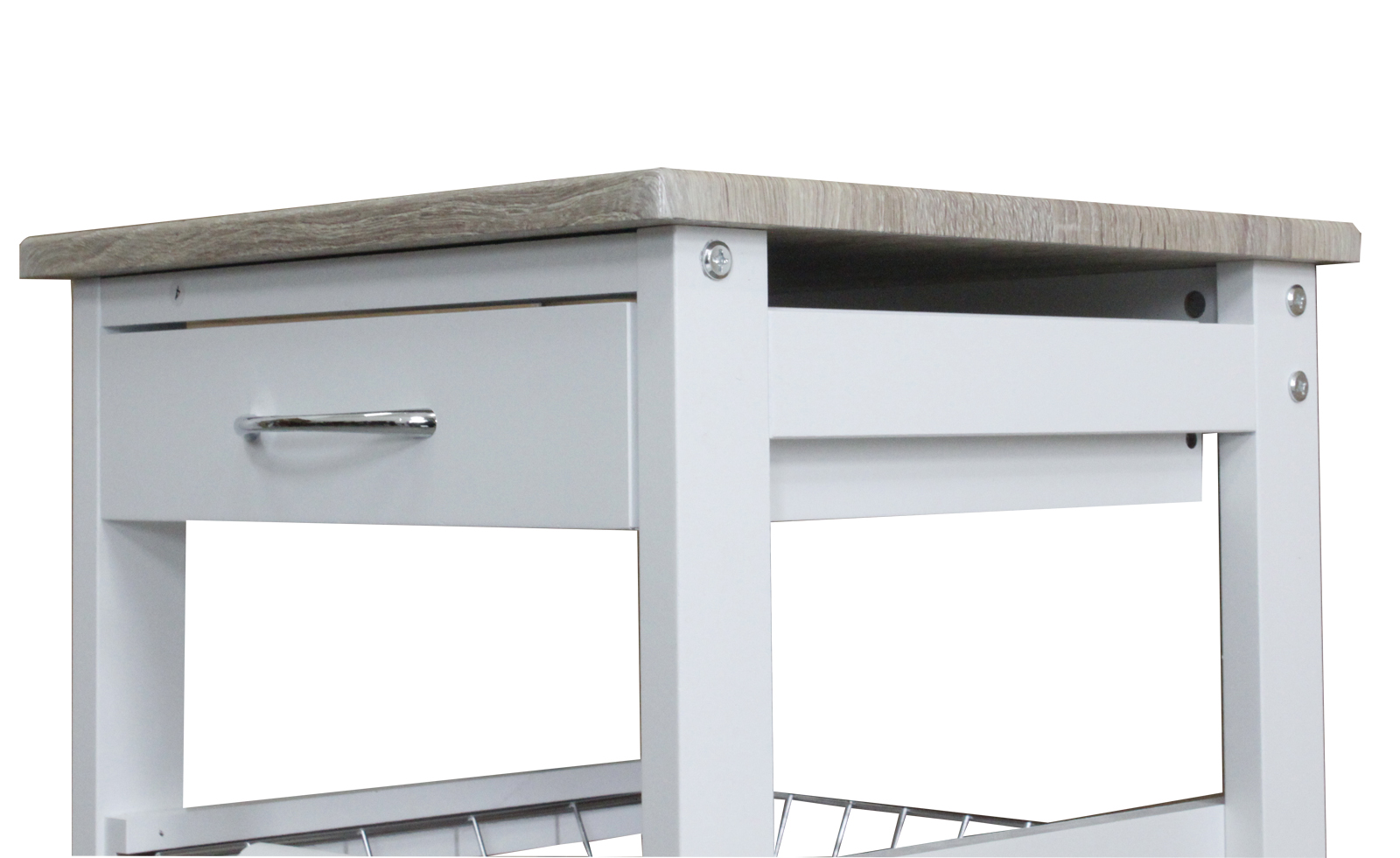 Küchenwagen Eiche Optik Rollwagen Servierwagen Beistellwagen Küche ...
