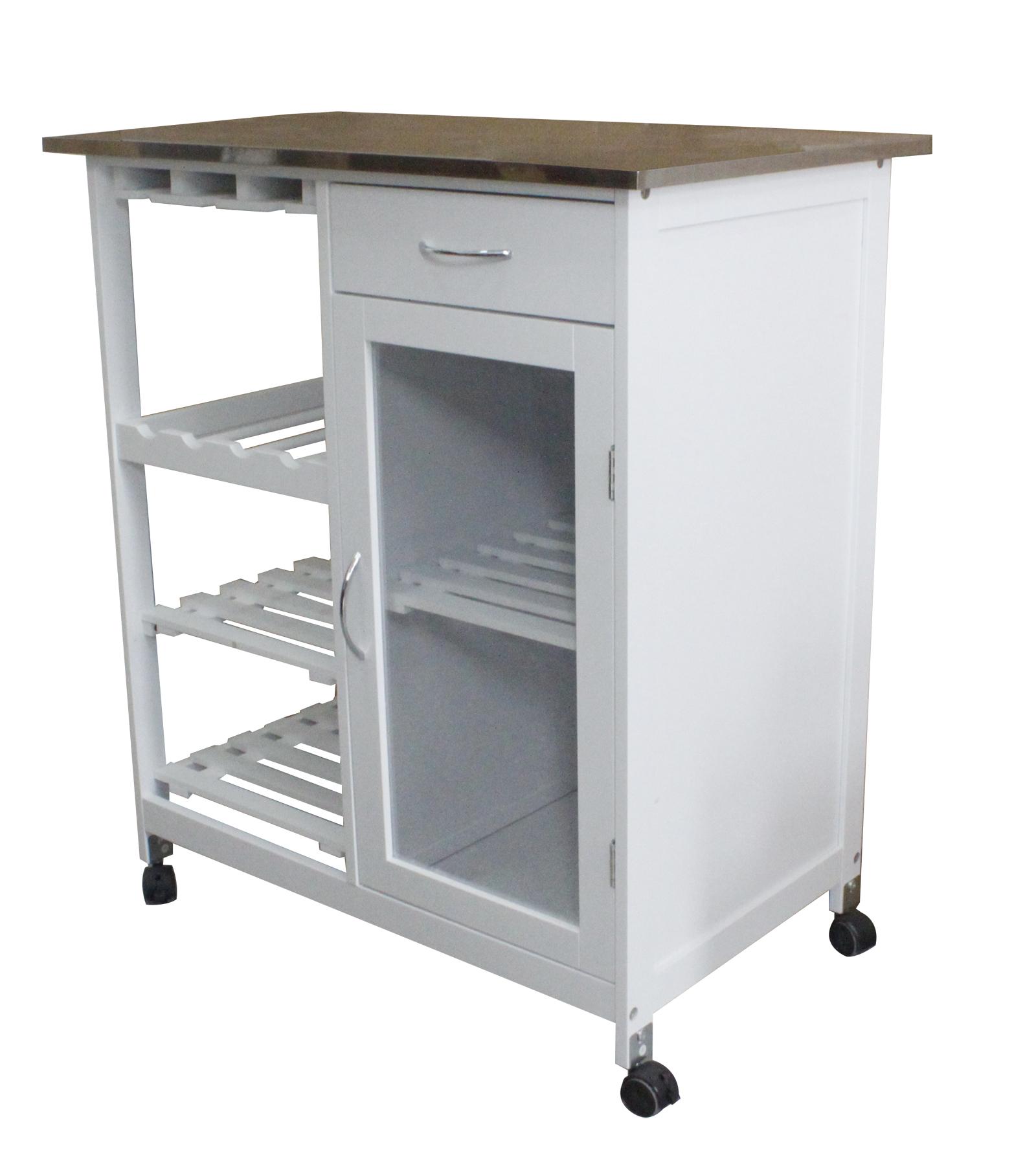Küchenwagen Servierwagen Rolltisch Arbeitsplatte Küche Rollwagen ...