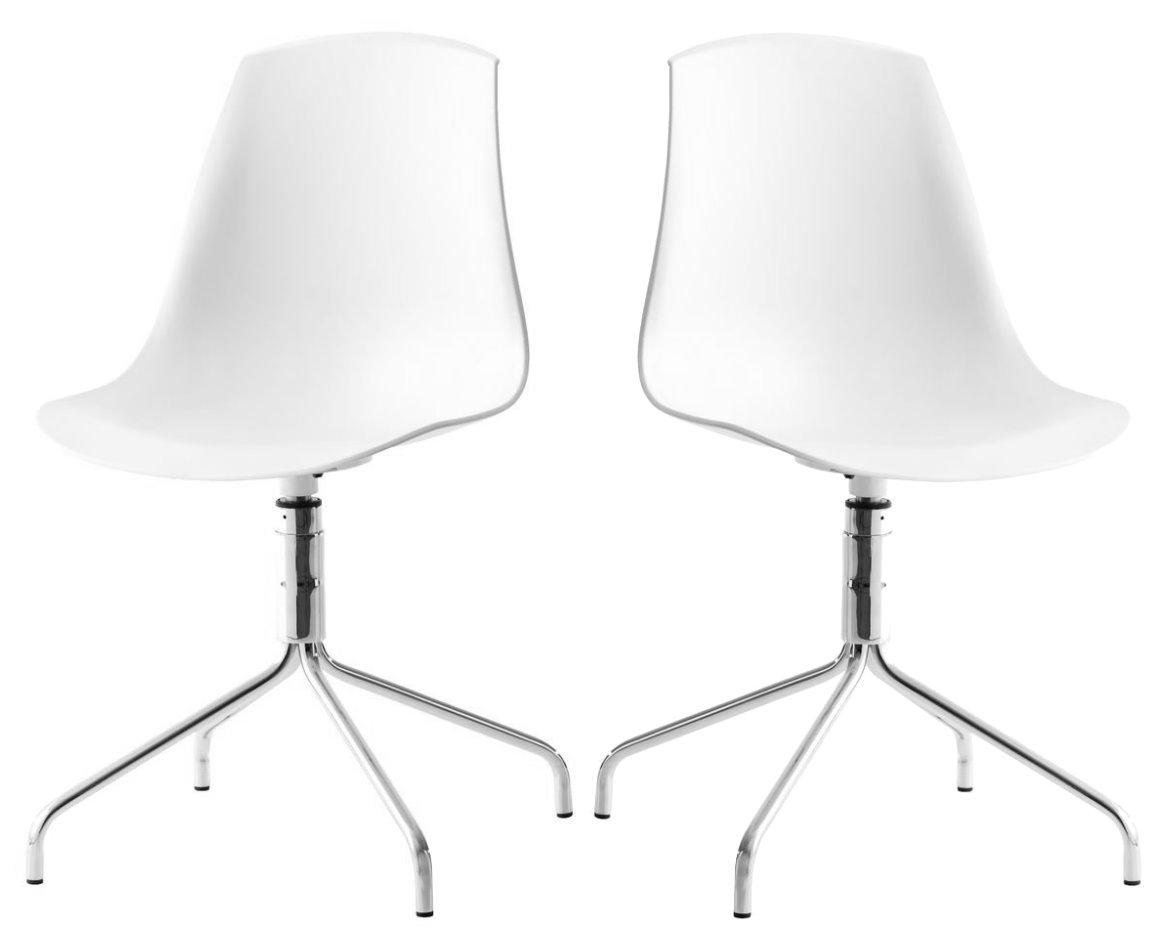 2x Retro Esszimmerstuhl Stuhl Set Drehstuhl Küchenstuhl Esszimmer ...