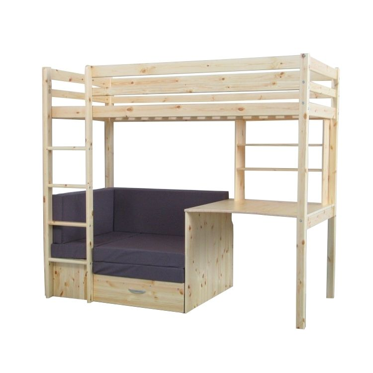 thuka hochbett 90x200 kiefer massiv bett kinderbett g stebett schreibtisch ebay. Black Bedroom Furniture Sets. Home Design Ideas