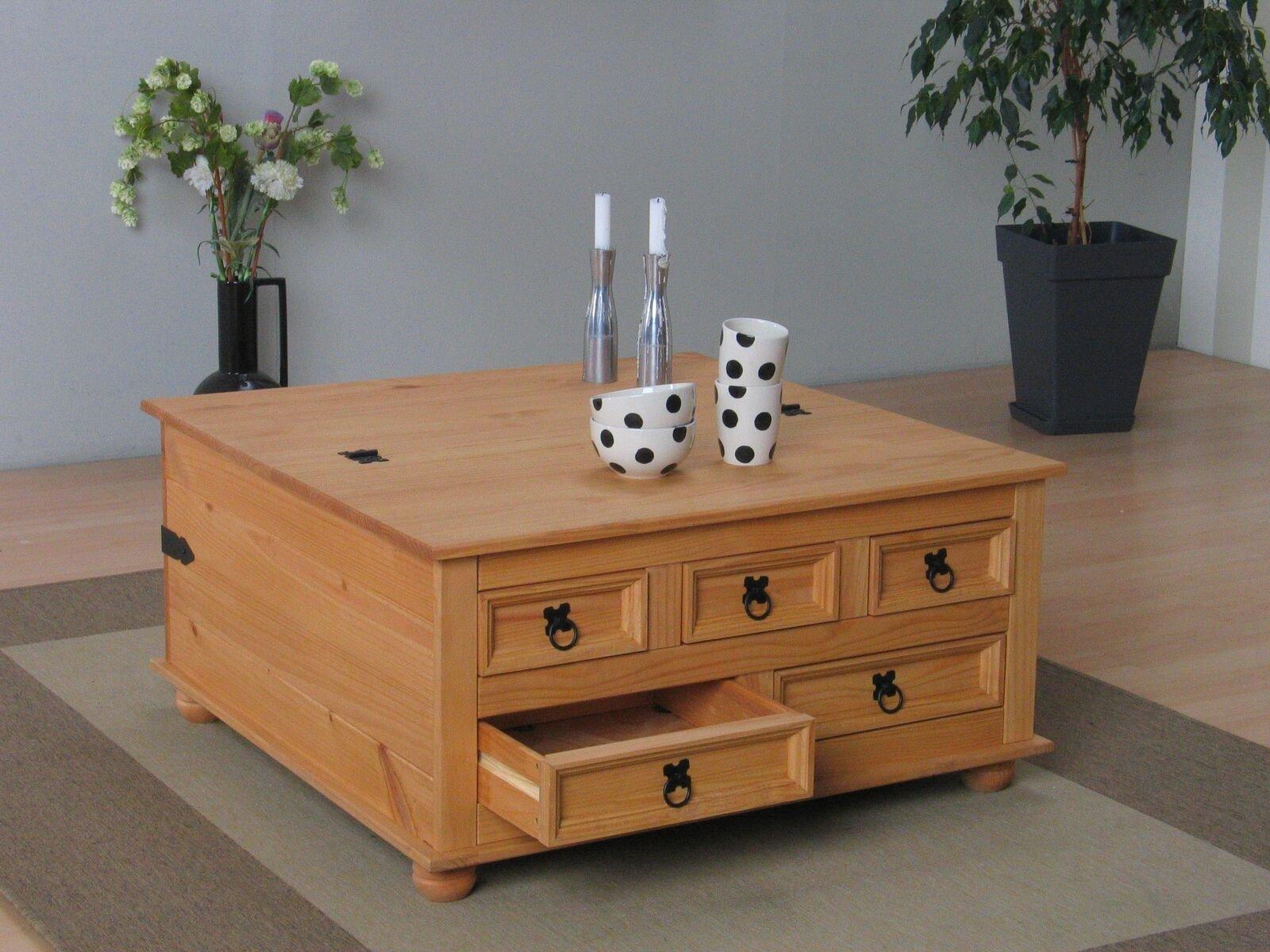kiefer truhentisch new mexico wohnzimmer couchtisch wohnzimmertisch tisch massiv m bel wohnen. Black Bedroom Furniture Sets. Home Design Ideas