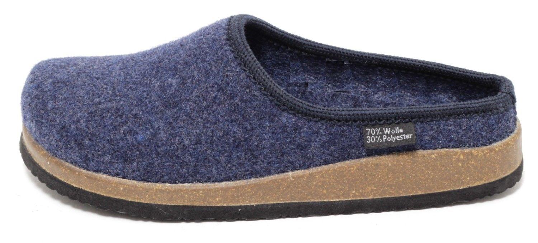 damen bio filz clogs gr 37 40 hausschuhe pantoletten slipper navy blau slipper ebay. Black Bedroom Furniture Sets. Home Design Ideas