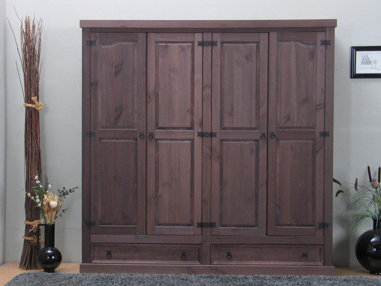 4tr kleiderschrank new mexiko kiefer massiv schlafzimmer. Black Bedroom Furniture Sets. Home Design Ideas