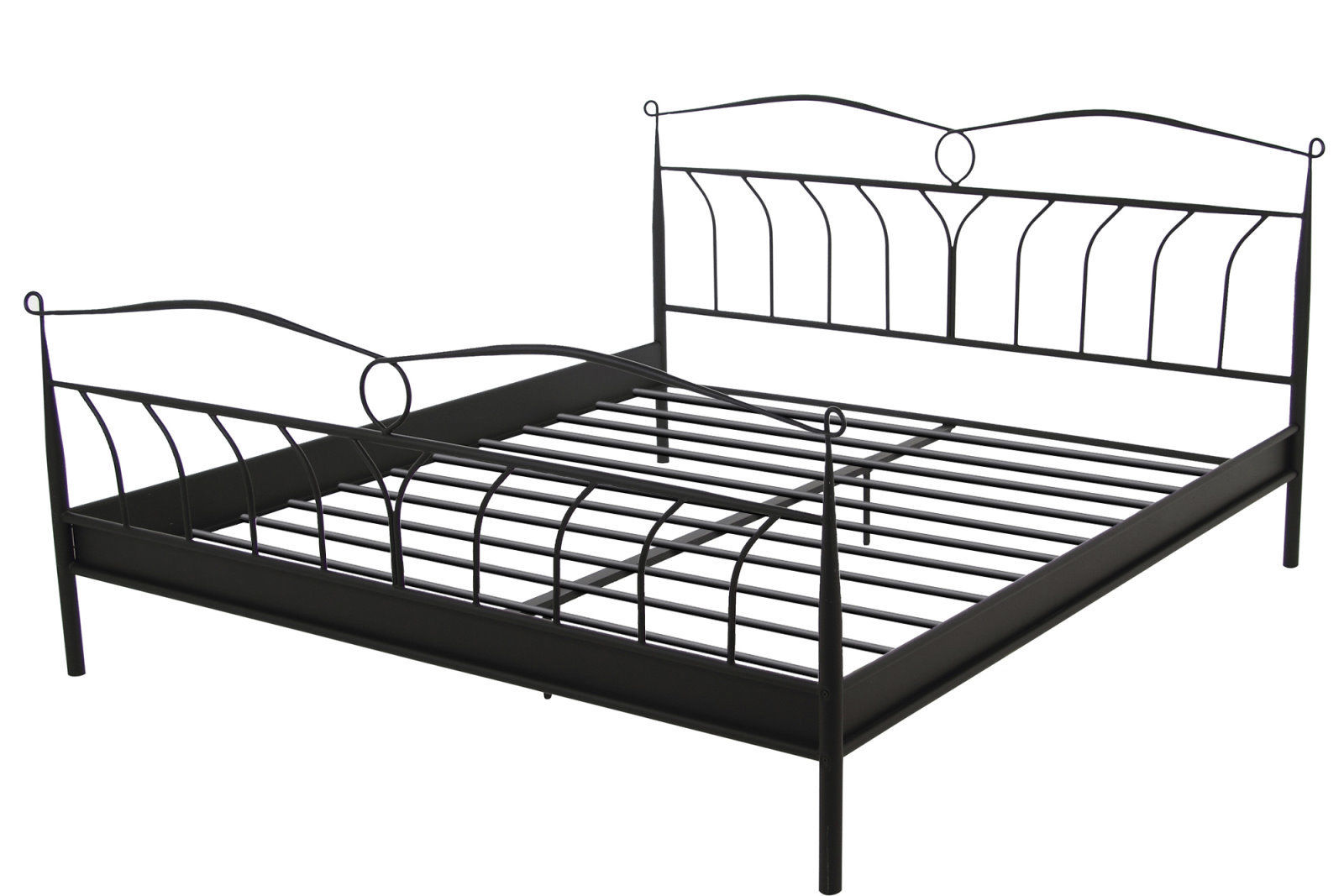 pkline metallbett schwarz 180x200 bett doppelbett ehebett. Black Bedroom Furniture Sets. Home Design Ideas