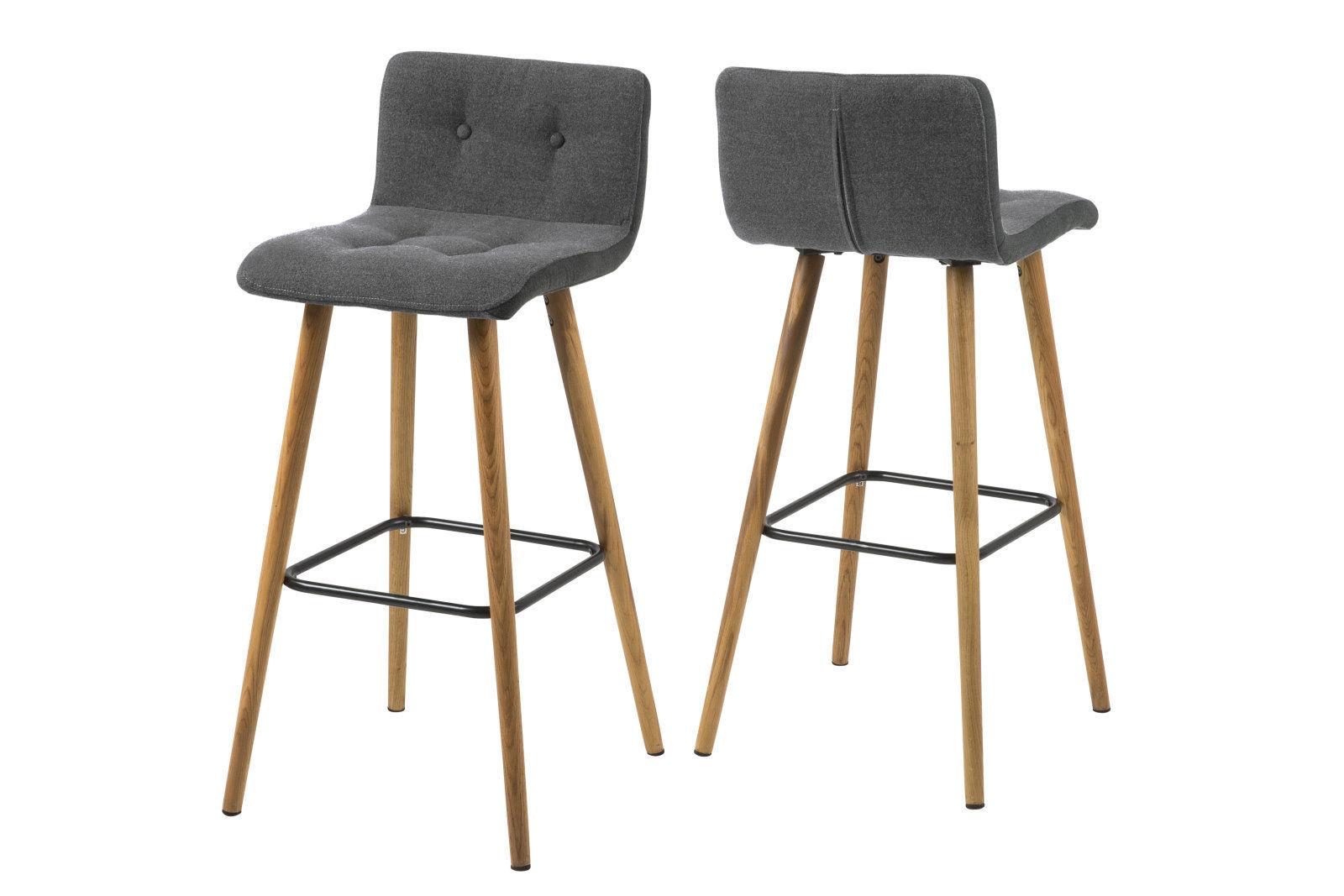 2x pkline barhocker grau barstuhl tresenhocker bar stuhl for Stuhl hocker