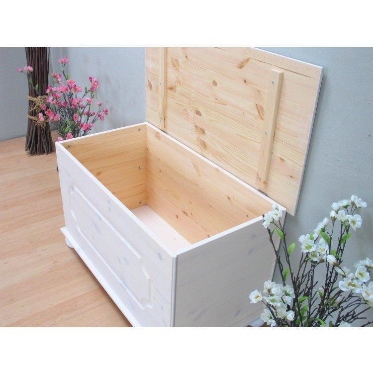 aufbewahrungstruhe amalie holztruhe holzkiste truhe kiste box kiefer wei ebay. Black Bedroom Furniture Sets. Home Design Ideas