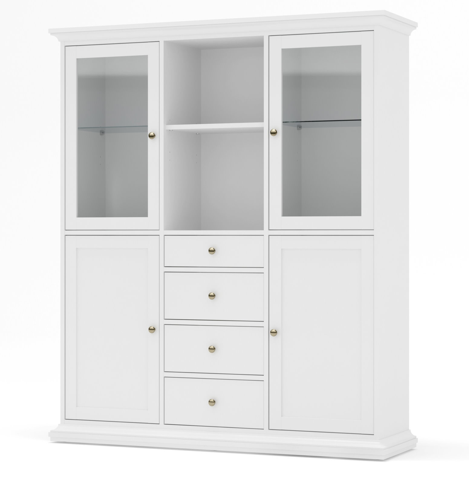vitrinenschrank paris glas vitrine aufsatzbuffet buffet wei ebay. Black Bedroom Furniture Sets. Home Design Ideas
