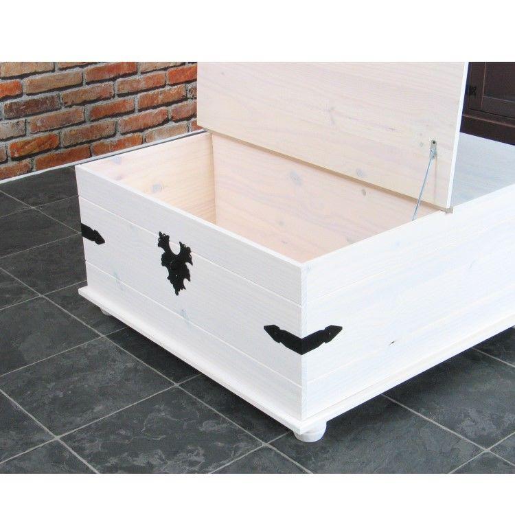 kiefer truhentisch new mexico mexiko wei massiv couchtisch truhe holztruhe m bel wohnen. Black Bedroom Furniture Sets. Home Design Ideas