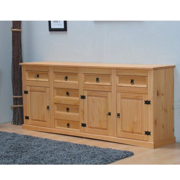 sideboard new mexiko massiv mexico anrichte buffet schrank kommode natur gelaugt m bel wohnen. Black Bedroom Furniture Sets. Home Design Ideas