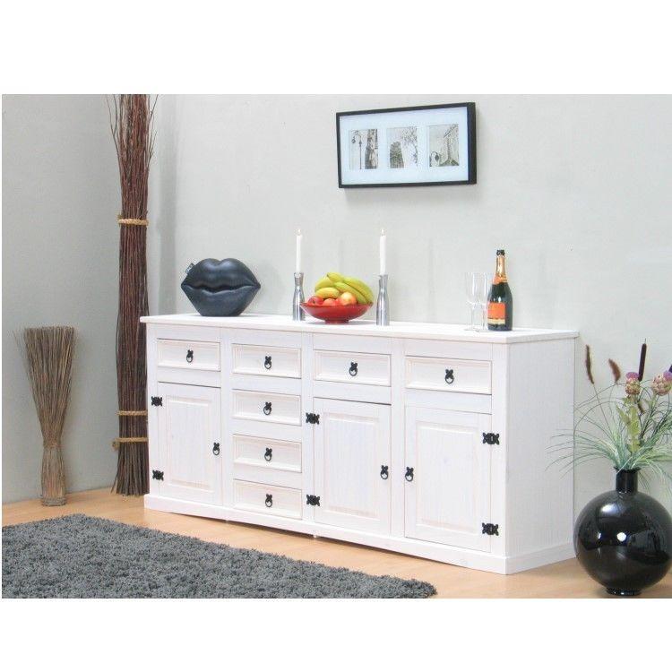 sideboard new mexiko holz anrichte buffet schubladen kommode schrank wei m bel wohnen. Black Bedroom Furniture Sets. Home Design Ideas