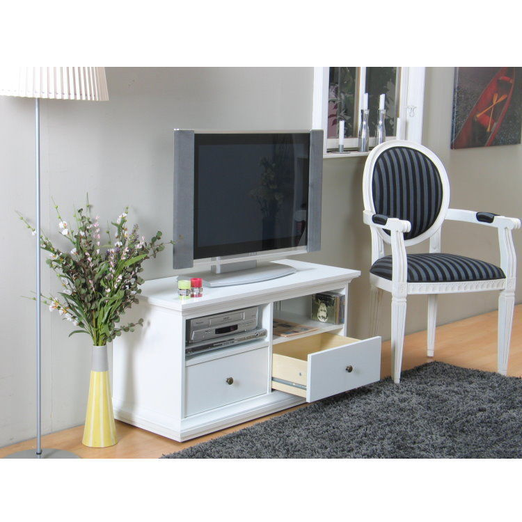paris tv hifi tisch board lowboard phono schrank kommode wei landhaus m bel wohnen schr nke. Black Bedroom Furniture Sets. Home Design Ideas