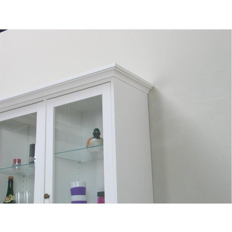 vitrinenschrank paris glas vitrine aufsatzbuffet buffet. Black Bedroom Furniture Sets. Home Design Ideas
