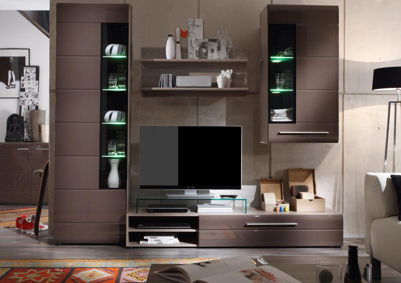 vitrine john trend beleuchtung wohnzimmer schrank m bel. Black Bedroom Furniture Sets. Home Design Ideas