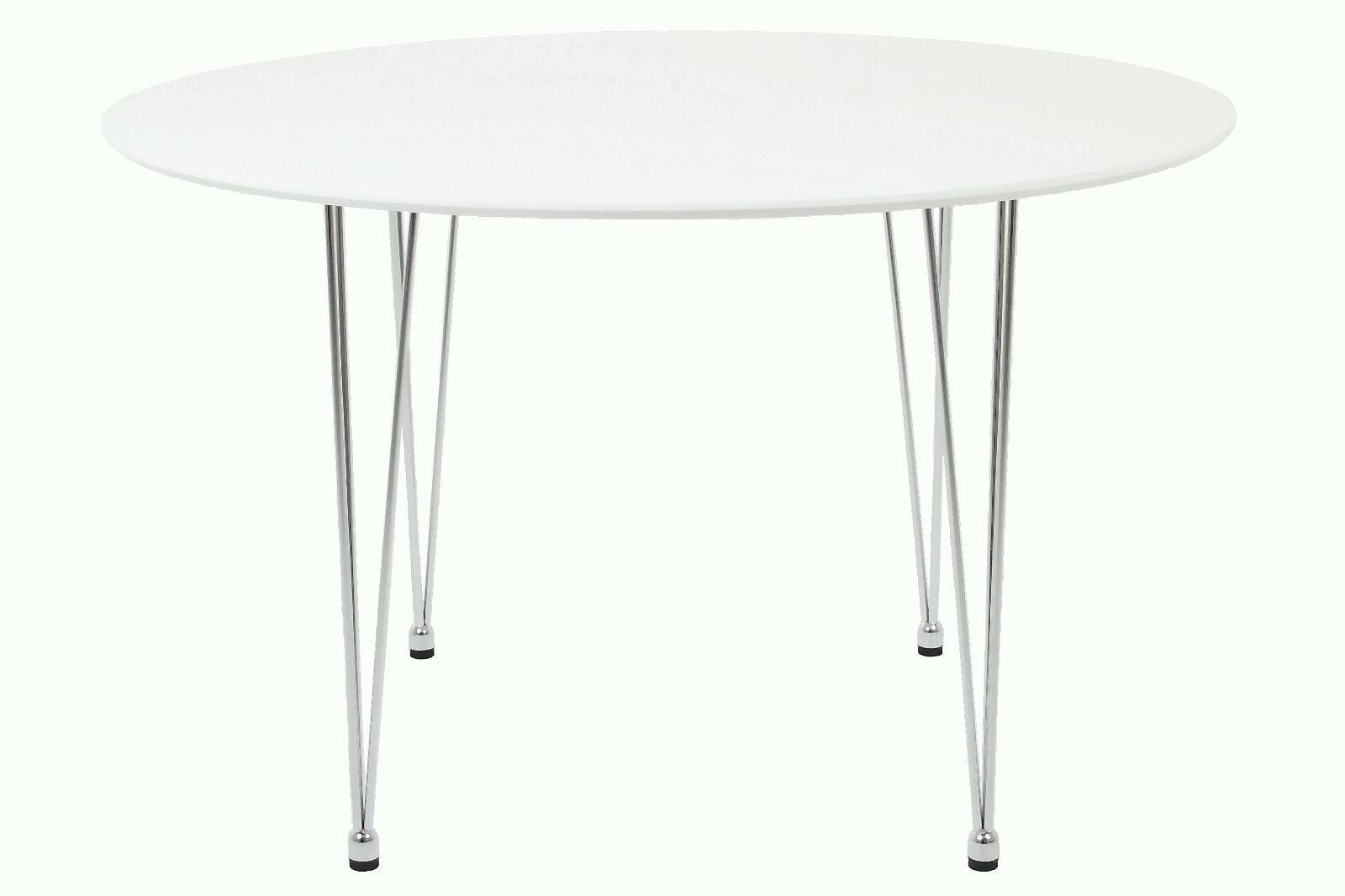 PKline Esstisch rund Esszimmer Tisch Holztisch in weiss Küchentisch ...