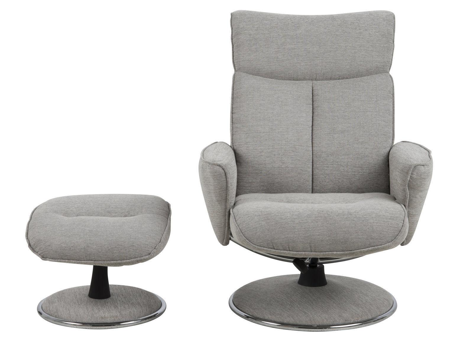 Clubsessel weiß grau  PKline Relaxsessel Drehsessel grau Loungesessel Sessel Stuhl ...