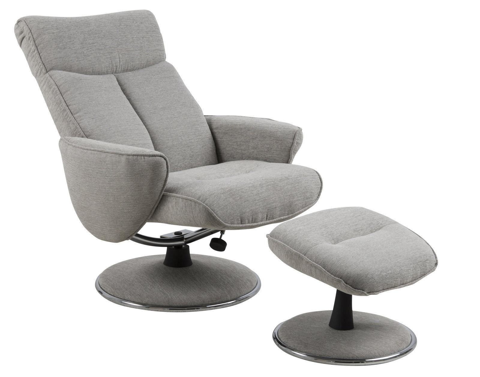 Pkline relaxsessel drehsessel grau loungesessel sessel for Relaxsessel grau stoff