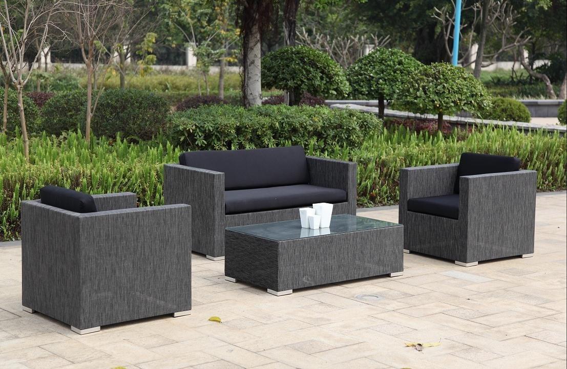 4tlg lounge gruppe textil sitzgruppe tisch sessel stuhl. Black Bedroom Furniture Sets. Home Design Ideas
