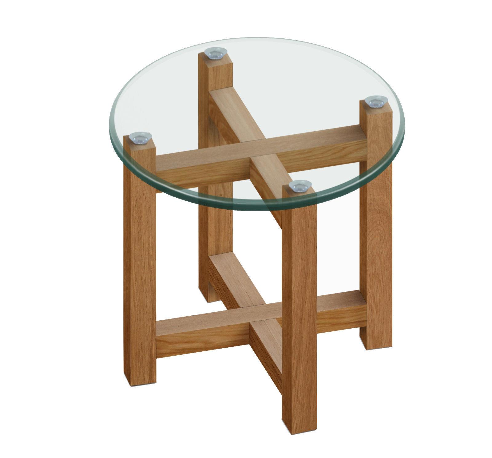 pkline beistelltisch 50cm holz tisch eiche massiv glastisch ecktisch dynamic. Black Bedroom Furniture Sets. Home Design Ideas