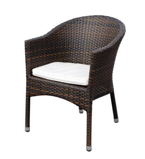 premium rattan garten sessel braun sitzkissen stuhl. Black Bedroom Furniture Sets. Home Design Ideas