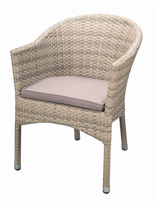 premium rattan garten sessel elfenbein sitzkissen stuhl. Black Bedroom Furniture Sets. Home Design Ideas