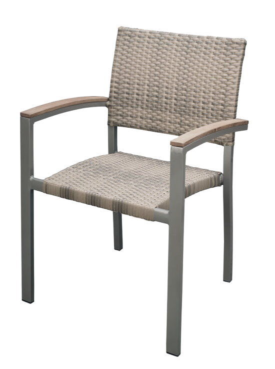 premium rattan garten sessel elfenbein teak armlehne stuhl stapelstuhl gastro ebay. Black Bedroom Furniture Sets. Home Design Ideas