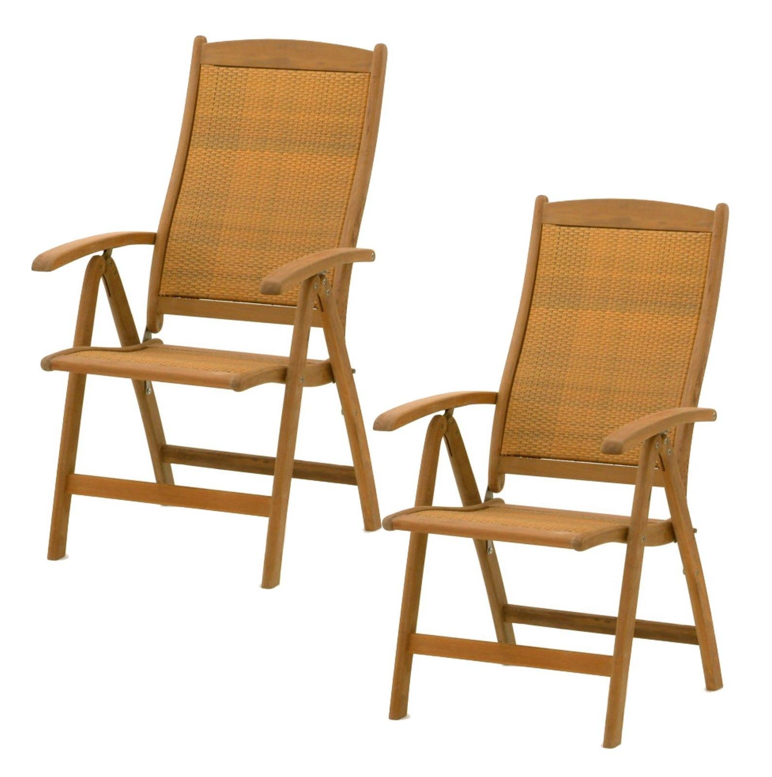 2x belardo hartholz hochlehner rattan garten sessel holz gartenstuhl stuhl set ebay. Black Bedroom Furniture Sets. Home Design Ideas