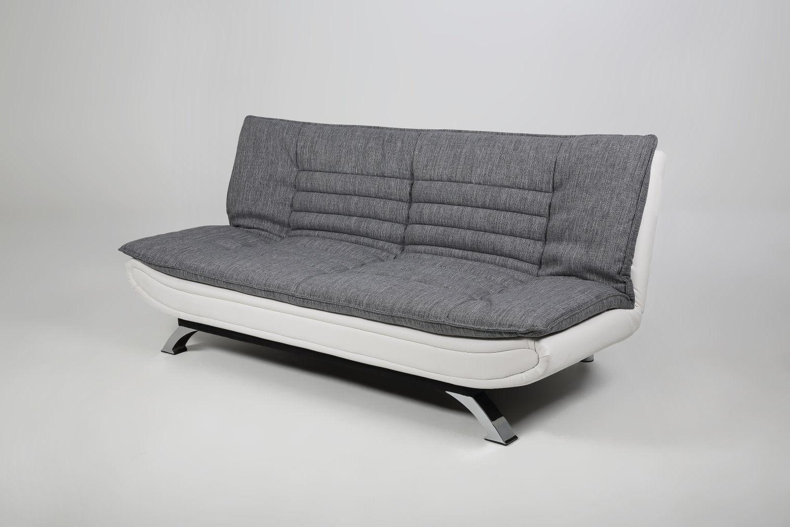pkline schlafsofa wei grau schlafcouch funktionssofa g ste bett couch m bel wohnen wohnzimmer. Black Bedroom Furniture Sets. Home Design Ideas