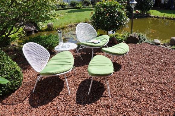 Leco retro design sitzgruppe garten tisch stuhl hocker for Leco schaukelstuhl mit polsterauflage