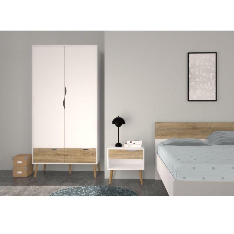 doppelbett napoli bettgestell ehebett bett schlafzimmer 180x200 wei eiche m bel wohnen. Black Bedroom Furniture Sets. Home Design Ideas