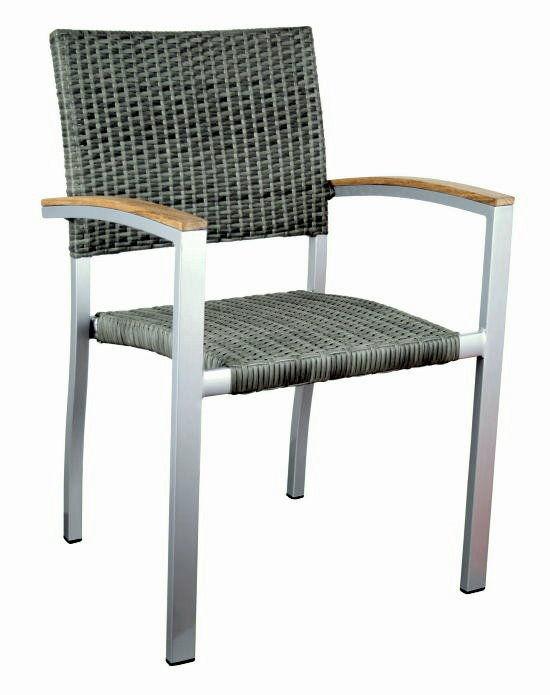 premium garten sessel mit teak armlehnen grau stuhl stapelstuhl gastro m bel ebay. Black Bedroom Furniture Sets. Home Design Ideas