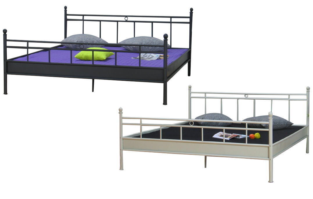 metall doppelbett 140x200cm ehebett metallbett bett bettgestell jugendbett ebay. Black Bedroom Furniture Sets. Home Design Ideas