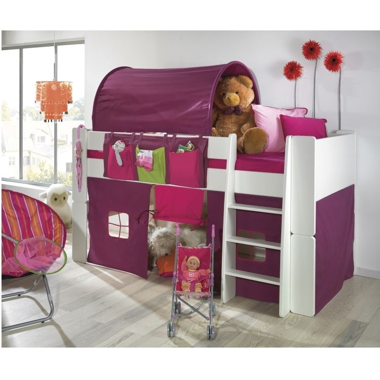 molly kids vorhang in lila vorh nge f r hochbett spielbett kinderbett stockbett m bel wohnen. Black Bedroom Furniture Sets. Home Design Ideas