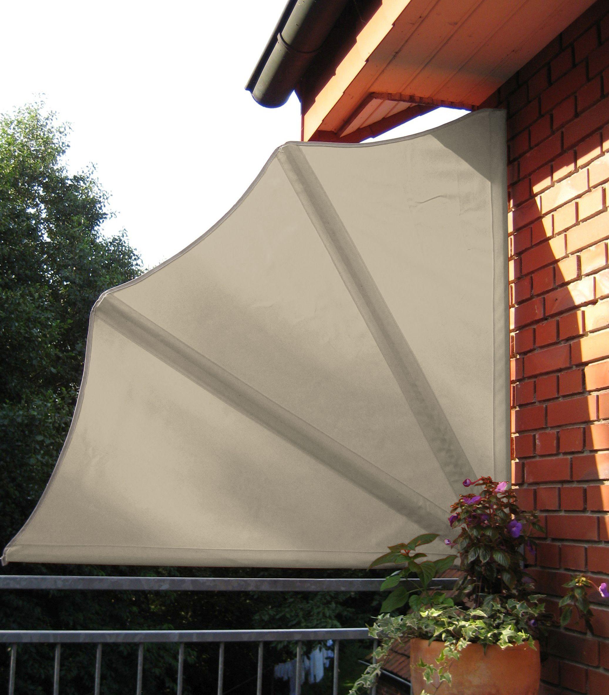 Balkon Fächer Schutzhülle Sichtschutz Windschutz Markise Natur