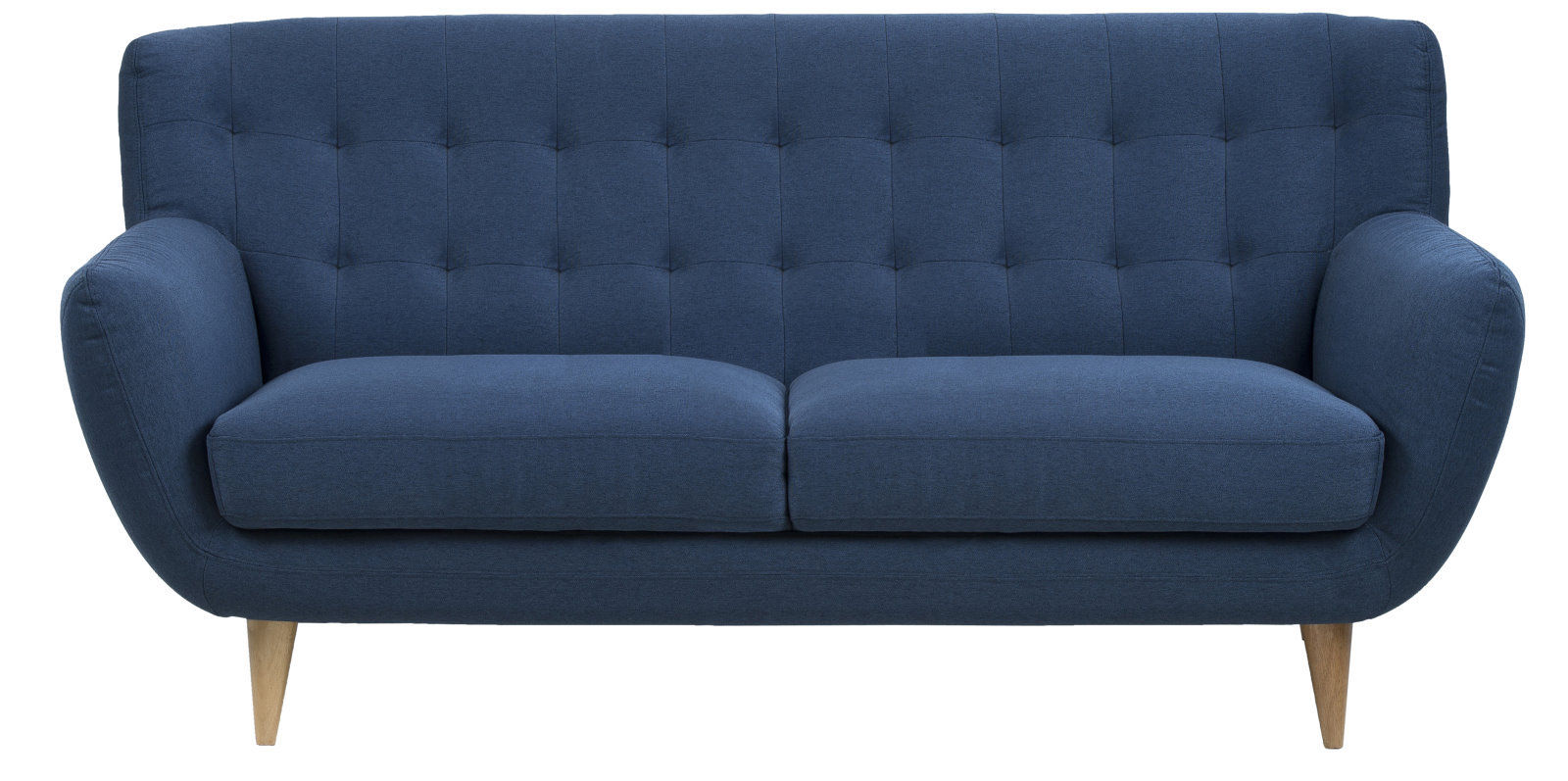 pkline sofa in dunkelblau 3 sitzer couch dreisitzer polster m bel 5705994823783 ebay. Black Bedroom Furniture Sets. Home Design Ideas