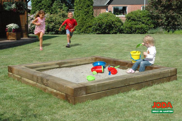"""Sehr JODA massive Sandkiste """"Ben"""" 220x220cm Sandkasten Sandbox Sand  VL17"""