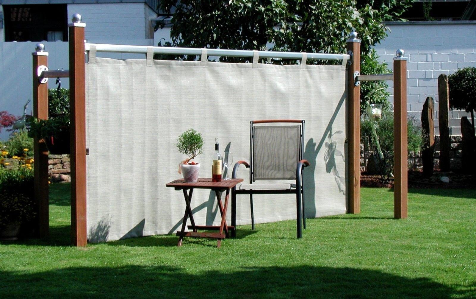 Leco Sichtschutz Royal Windschutz Paravent Trennwand Garten Möbel