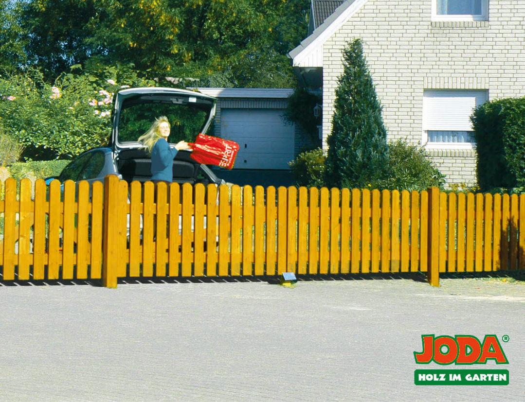 JODA Pforte 100x80 Zaunpforte Zaun Vorgartenzaun Holz Gartenzaun