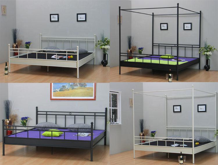metall bett himmelbett doppelbett jugendbett ehe 140 160. Black Bedroom Furniture Sets. Home Design Ideas