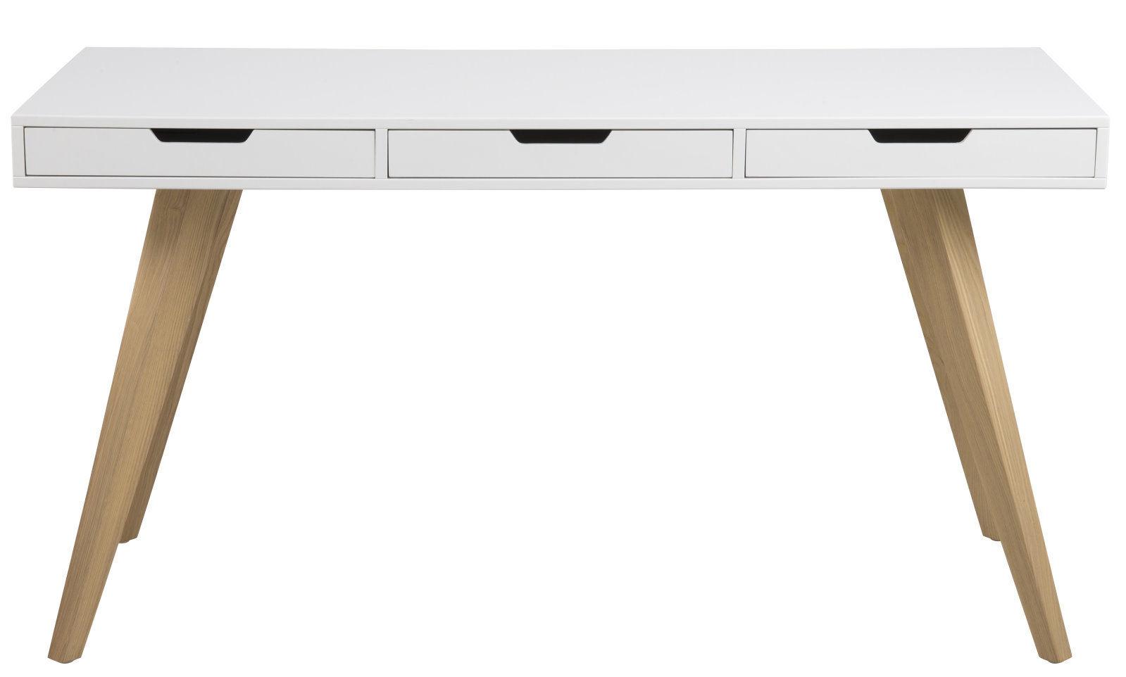 pkline schreibtisch computertisch arbeitstisch tisch wei eiche arbeitszimmer ebay. Black Bedroom Furniture Sets. Home Design Ideas