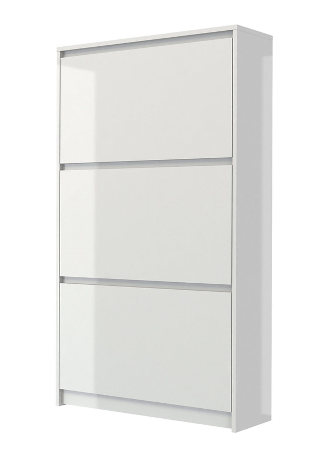 meuble chaussures lumi re armoire de couloir dielen blanc haute brillance ebay. Black Bedroom Furniture Sets. Home Design Ideas